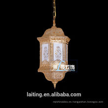 Iluminación pendiente india cristalina barata de la lámpara marroquí para la sala de estar