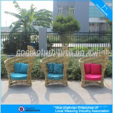 UV-beständiger synthetischer Rattangartenmöbel-Rattanflügelstuhl
