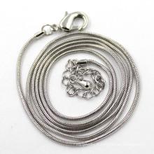 Chaîne de serpent argentée de 1,2 mm pour femmes Collier bijoux