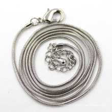 1.2mm Silver Snake Chain for Women Men Necklace Jewelry