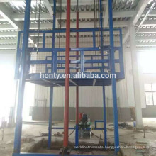 Vertical drywall lift Hydraulic guide rail lift platform cargo elevator lift