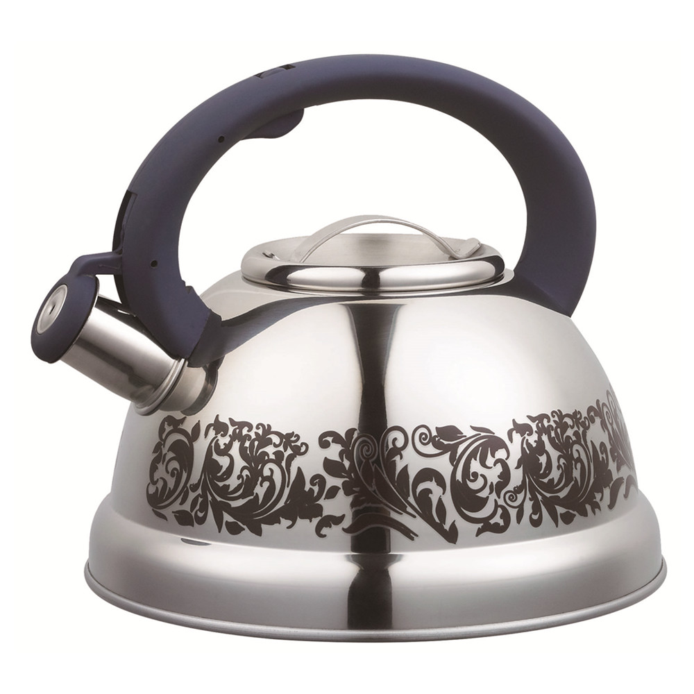 With Beautiful Flower Whistling Kettle