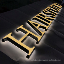 Custom light up led letters sign board outdoor for store company resturuant