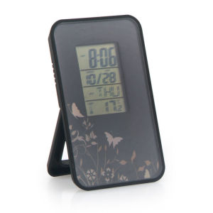 LCD digital clip clock with temperature alarm clock