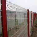 Cercado de malla de alambre de acero soldado con recubrimiento de PVC verde
