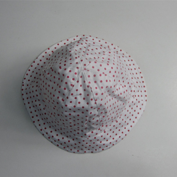 Children Cotton Poplin Dot Print Floppy Hat
