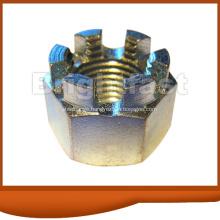 GB58 ANSI ASME DIN935 Color Zinc Hex Slotted Castle Nuts