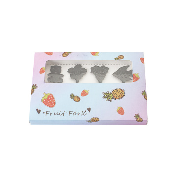 Set regalo forchetta frutta design inverso