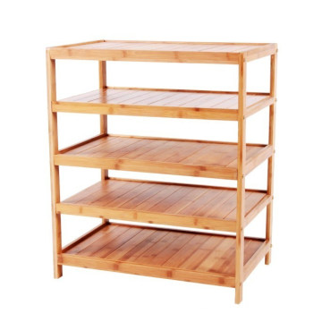 Bamboo 5-Layers Shelves 5-Tier Rack