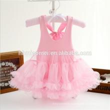 2017 новая мода горячий продавать милый ребенок девушка платье комбинезон розового цвета без рукавов хлопок детская одежда набор ползунки для новорожденных девочек