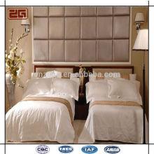 100 algodón blanco liso conjunto de ropa de cama al por mayor de suministro de hotel