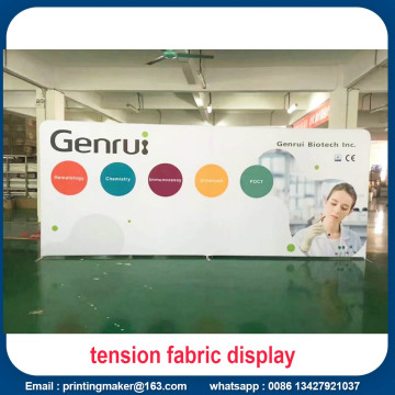 8 FT Tension Fabric Backdrop Pameran Dagang Menampilkan
