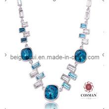 Sw Elements Crystal Indicolite Color Dernier modèle Fashion Necklace