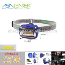BT-4848 100%-50%-Flashing COB 3W Headlamp