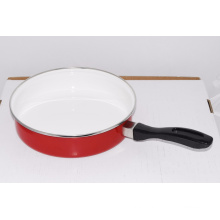 high quality mirro face frying pan, ceramic coating frypan, steel frypan