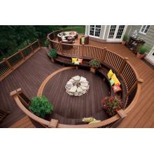 Impermeable resistente a la roya mildewproof WPC madera de plástico compuesto decking / WPC al aire libre productos para la venta