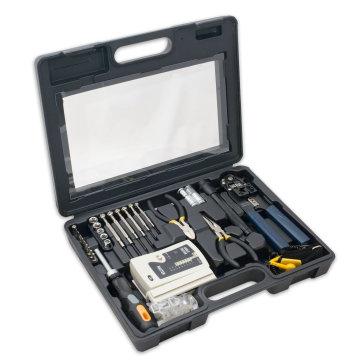 Kit d'outils d'installation de réseau informatique avec testeur de câble multi-module