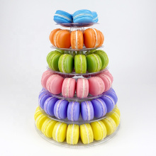 6 Tiers Macaron Chocolate Cookie Candy Plastic Tower packaging stand for display