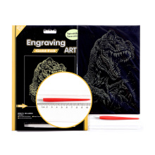 Dawn of the Dinosaurs Golden Foil Engraving Art Sets