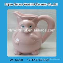 Jarra de agua de cerámica de alta calidad con patrón de zorro