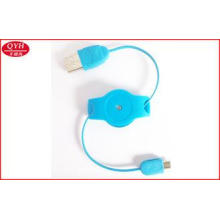 Multifunctional Retractable Micro USB Cable Charger For HTC