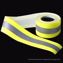 flammhemmendes reflektierendes Band des hohen Lichtes reflektierendes FR gelbes Gurtband des Gelbs