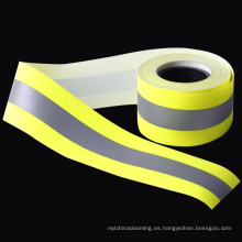 cinta reflectante retardadora ignífuga FR ligera amarilla