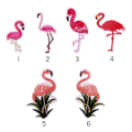 Feature Flamingos Birds DIY Custom Embroidery Patches