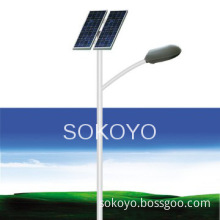hot-galvanized lighting pole led solar street light