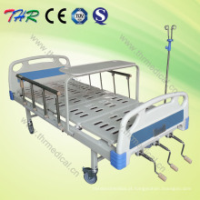Cama de hospital manual ajustável de três funções