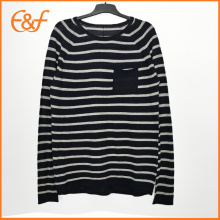 Fashion Mens Stylish Plain Pullover Striped Sweater