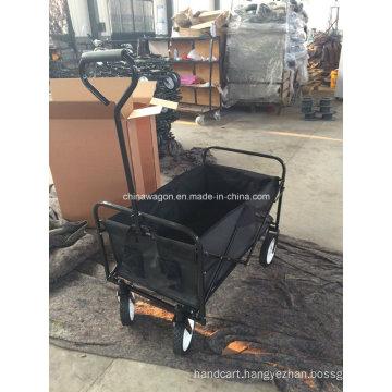 Black Color Folding Beach Wagon