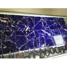 Durchscheinend blaue Sodalith-Laminatplatte