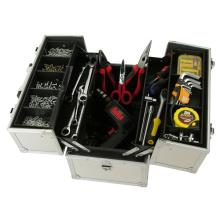 Caja de herramientas de aluminio con bolsillo para herramientas