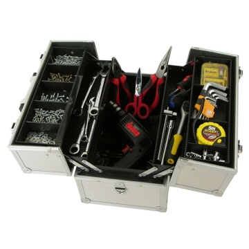 Caja de herramientas de almacenamiento de aluminio EVA + con mango / caja de herramientas de aluminio