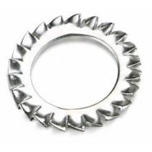 Vente chaude externe serrure dentelée rondelle plate en métal pièces