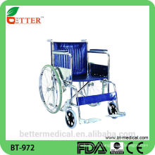 Chaise roulante en acier inoxydable