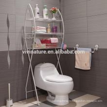forme de poisson sur l'étagère de serviette de salle de bains et le support de toilette en métal