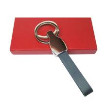Cadeaux promotionnels Porte-clés en cuir en métal avec logo de timbre (F3069)