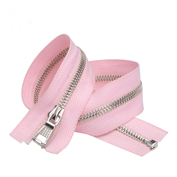 No.3 Open end Stainless Steel Metal Fashion Zipper