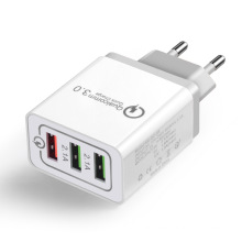 3.0A Quick USB Charger Fast USB Charger EU Plug 3 Port Usb Wall Charger for Phones