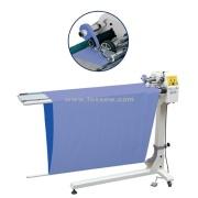 Corte automático e bainha a máquina de bordar