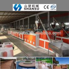 2014 CHINA FABRICANTE PP / PE / PVC COMPOSTO DE MADEIRA PLÁSTICO PERFIL Máquina Linha / máquina de compósito de madeira de plástico