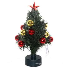 iluminando a caixa de música da árvore de Natal da fibra óptica