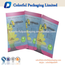 three side heat seal mask bag three side seal zipper small size bag custom printed pouches