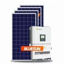 Système solaire Bluesun 50kw 100kw 150k sur la production triphasée 400Vac de générateur d'énergie solaire de grille