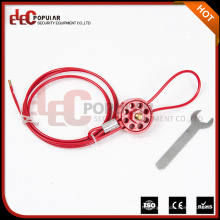 Verrouillage des câbles de type roue pour sécuriser les vannes