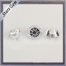 Blanco estrella redonda transparente corte peso pesado CZ piedras preciosas