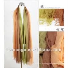 G & M-XLX120505 2016 la última bufanda modal de moda del resorte del color del dos-tono y mantón