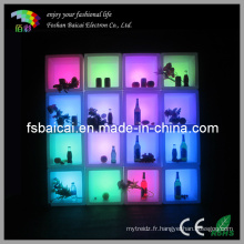 LED Wine Stocker Cube Bar Chair
